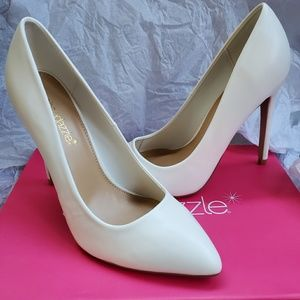Matte White Pumps